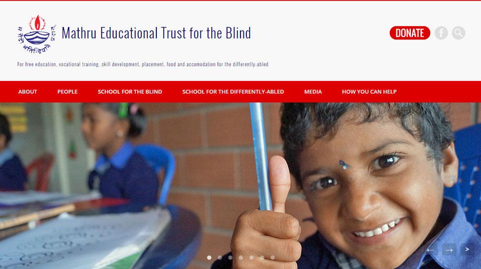Screenshot of the Mathru website